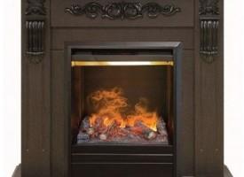 3D Камин с эффектом живого огня Real-Flame Dominica Corner STD/EUG DN с очагом 3D Olympic