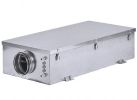 Компактная приточная установка с электрическим нагревателем Shuft ECO-SLIM 1100-15,0/3 - А